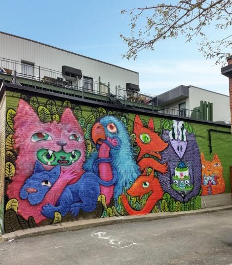 Cryote and Waxhead collaboration mural