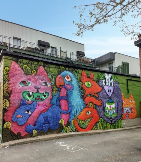 Cryote and Waxhead collaboration mural