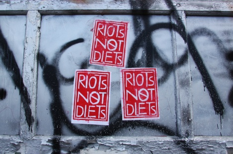 Riots Not Diets stickers