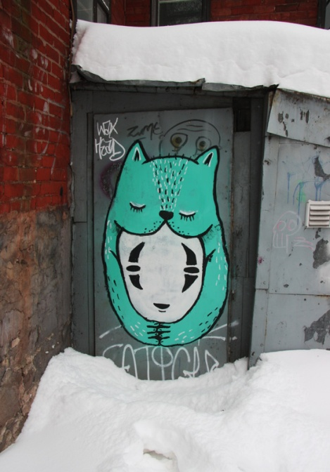 Tribute by Waxhead to Hayao Miyazaki, in McGill ghetto