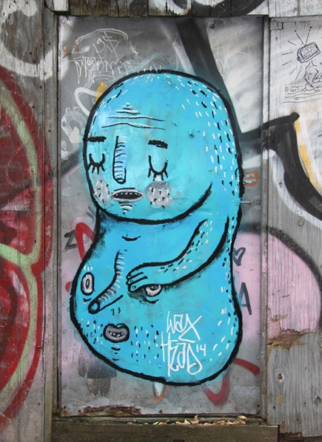 Waxhead piece in alley between St-Laurent and Clark