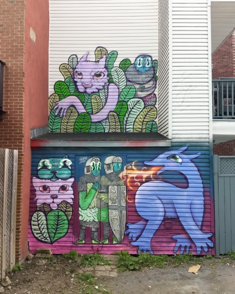 Waxhead and Cryote in a Plateau alley