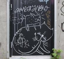 Waxhead piece in alley behind St-Denis