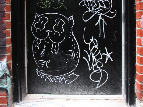 Waxhead drawing on door