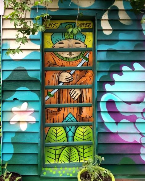 Mile End alley door by Waxhead