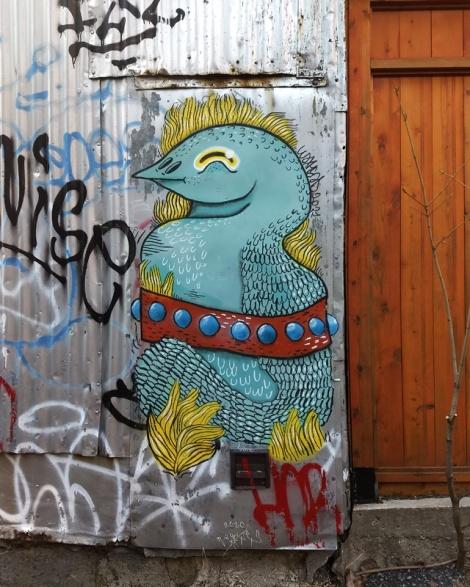 Waxhead on a Mile End alley door