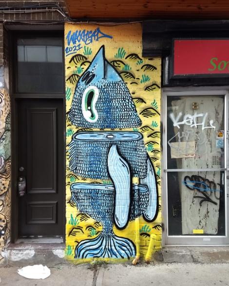 Off-Mural piece by Waxhead
