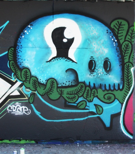 Waxhead at the PSC legal graffiti wall