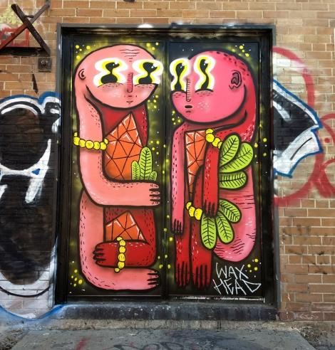 Waxhead on doors in Pointe St-Charles