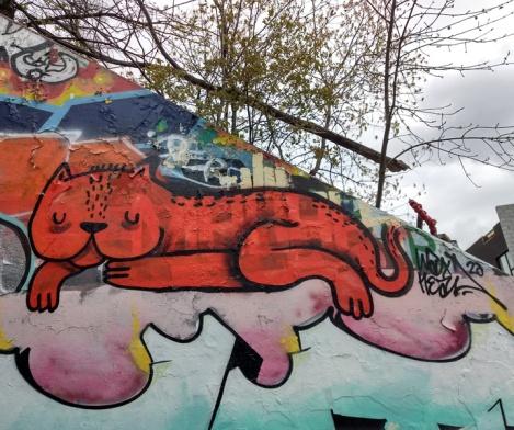 small Waxhead piece at the Rouen legal graffiti tunnel