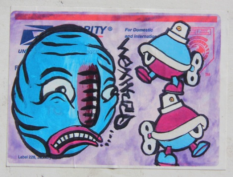 Waxhead (left) and Turtle Caps (right) collaboration sticker