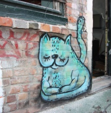 Waxhead piece in private gallery of street art