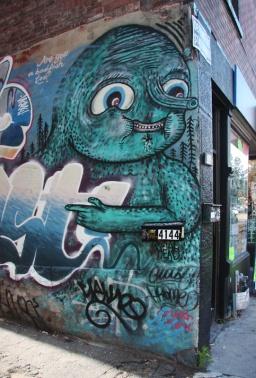 Waxhead piece in alley off St-Laurent