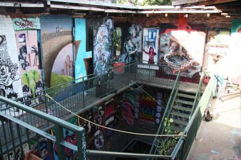 View from top floor, Cabane à sucre secret project August 2014