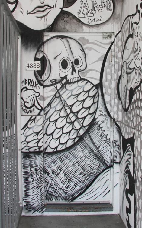 En Masse, detail of larger work at Espace Go
