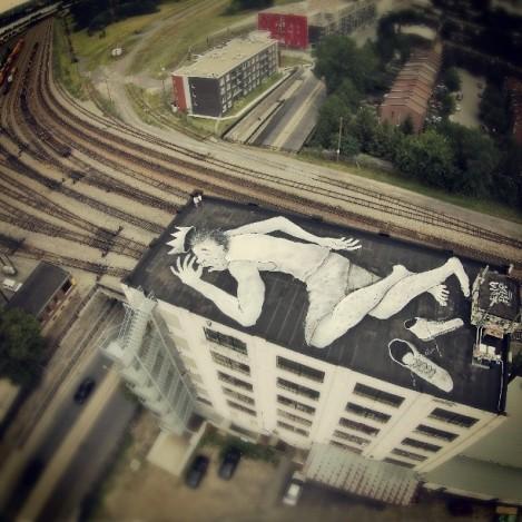 Ella & Pitr (France), rooftop 'mural', Ontario x Moreau [photo © Ella & Pitr]