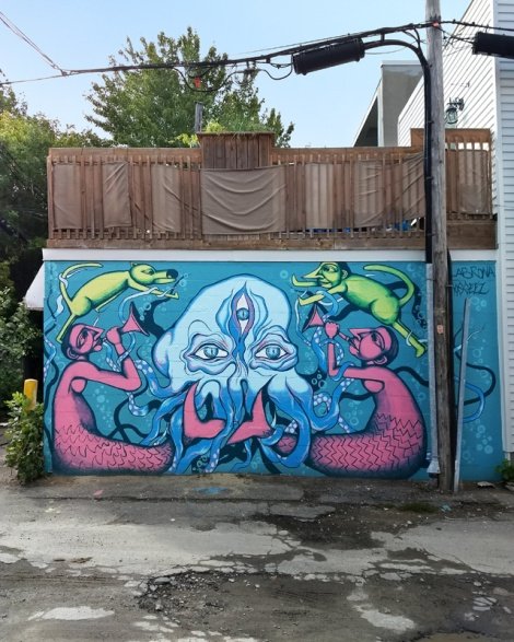 Labrona and M'Os Geez collaboration in a Hochelaga alley