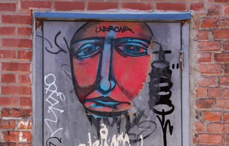 Labrona wheatpaste found in Hochelaga alley
