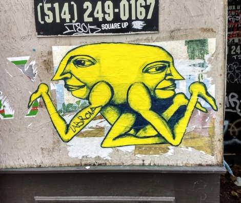 Labrona wheatpaste in central Montreal