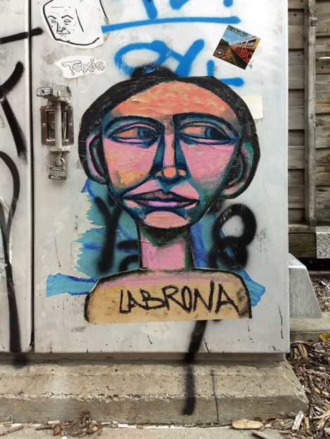 Labrona wheatpaste found in Hochelaga