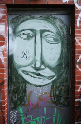 Labrona on door, rue de Gaspé