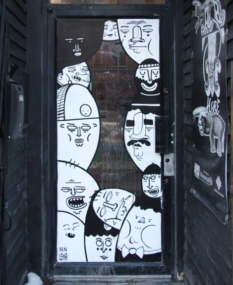 Ben from Le Monstr and LSNR on door in the Quartier des Spectacles
