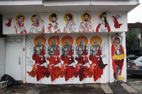 Miss Me wheatpaste mural, Mural Festival 2014