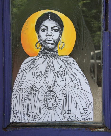 Miss Me wheatpaste of Nina Simone