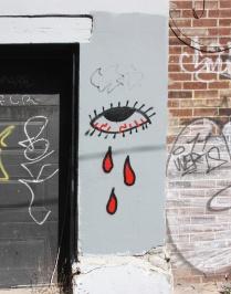 unidentified artist in alley west of St-Denis