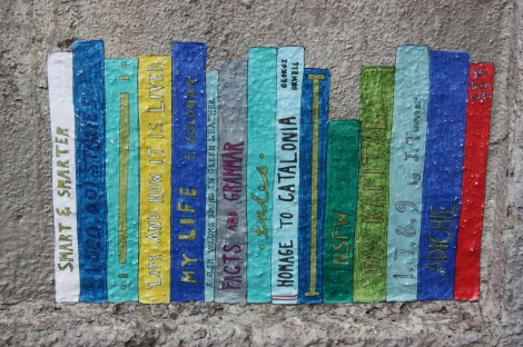 wheatpaste by unidentified artist on Parc corner Van Horne