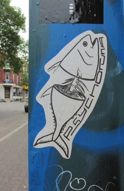 paste-up by Psychotuna on Coloniale corner Duluth