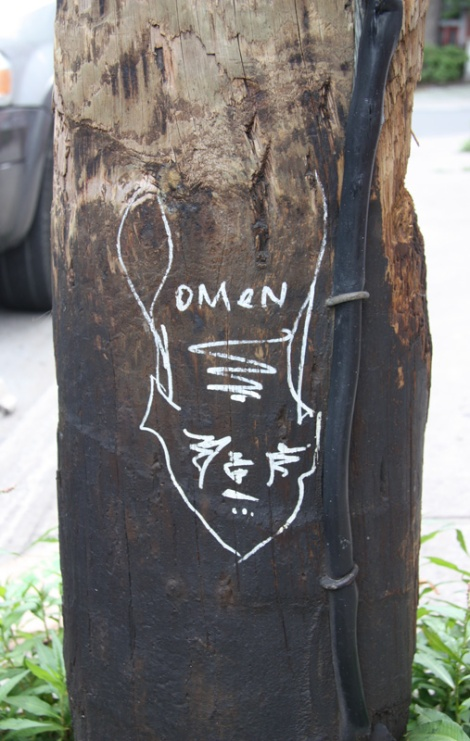 Omen drawing on Marie-Anne