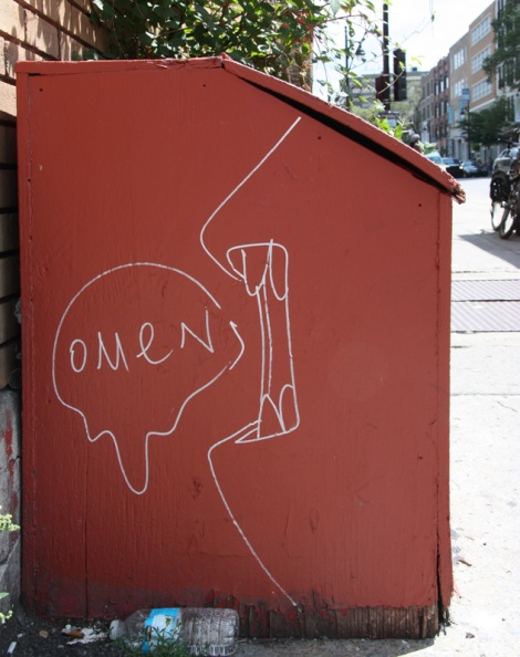 Omen drawing on St-Laurent