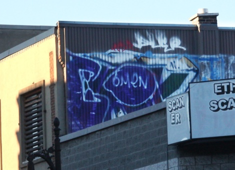 rooftop piece by Omen on St-Laurent