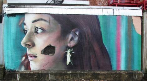 Omen mural in Rosemont