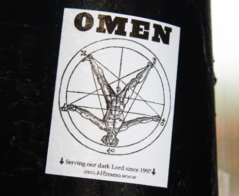 Omen sticker