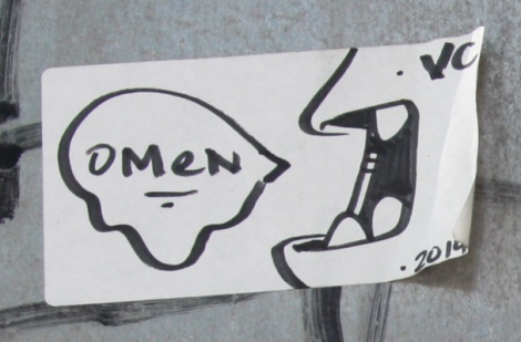 Omen hand-drawn sticker