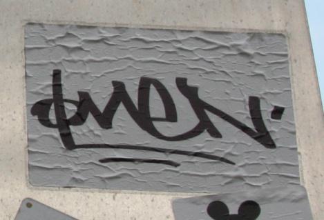 Omen handwritten sticker
