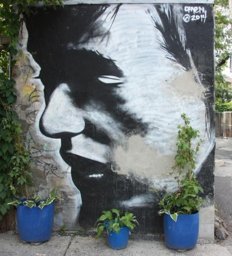 Omen mural on Fairmount