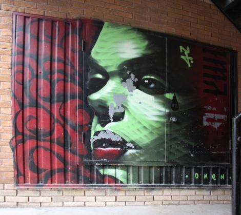 Omen mural on Prince-Arthur
