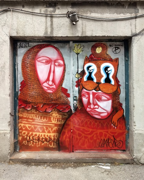 Waxhead and Labrona collaboration in a Plateau alley
