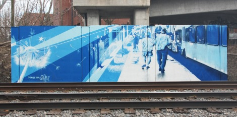 trackside mural by Cems aka Benny Wilding, for Ashop