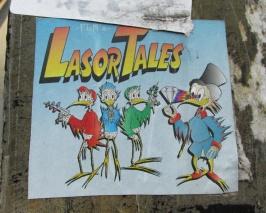 Futur Lasor Now paste-up in alley between St-Laurent and Clark