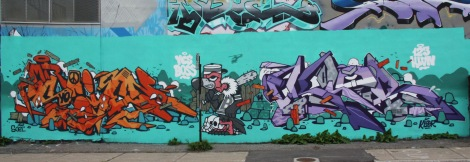 123Klan graffiti mural on Gilmore in the South West