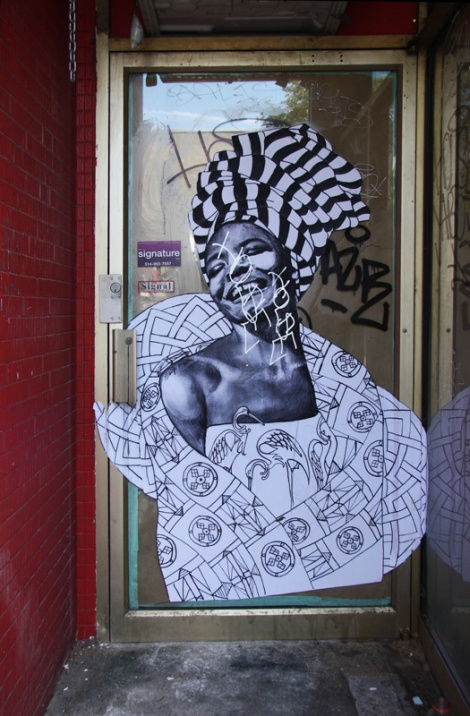 Miss Me wheatpaste on Fairmount (also in other locations)