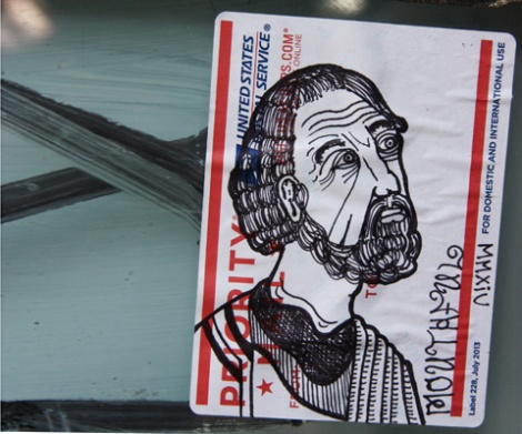 hand drawn sticker by Mouthful