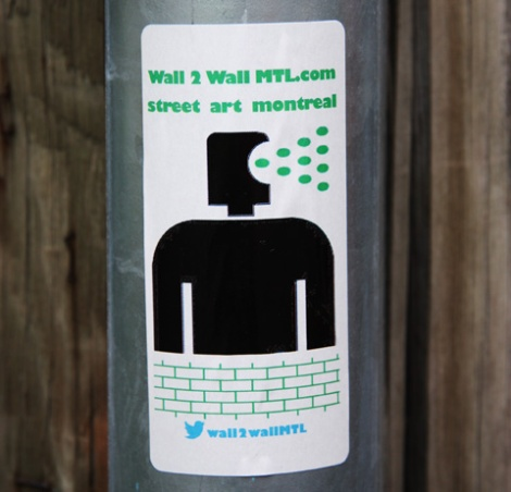 wall2wallMTL promo sticker