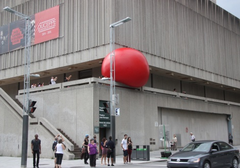 Red Ball Project Montreal day 2 - 1 September: Place des Arts