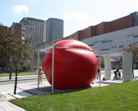 Red Ball Project Montreal day 3 - 2 September: Quartier des spectacles