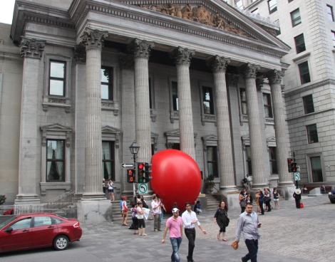 Red Ball Project Montreal day 6 - 5 September: BMO St-Jacques, Old Montréal